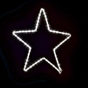 Estrella de tubo luminoso à ¸ 60cm–72LED flashled–Blanco Hielo