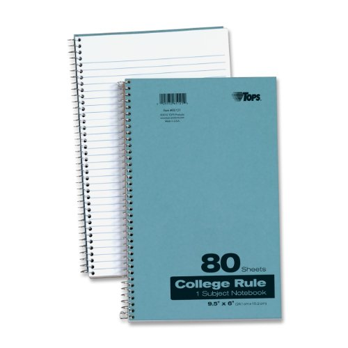 TOPS Kraft Cover Notebook, 9.5 x 6 Inch, College Rule, 80 Sheets, Blue (65121) by TOPS (Image #2)