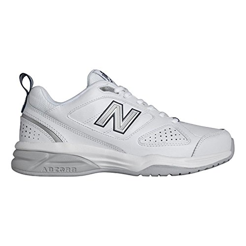 New Balance Women's WX623V3 Training Shoe-W, White/Navy, 9.5 B US