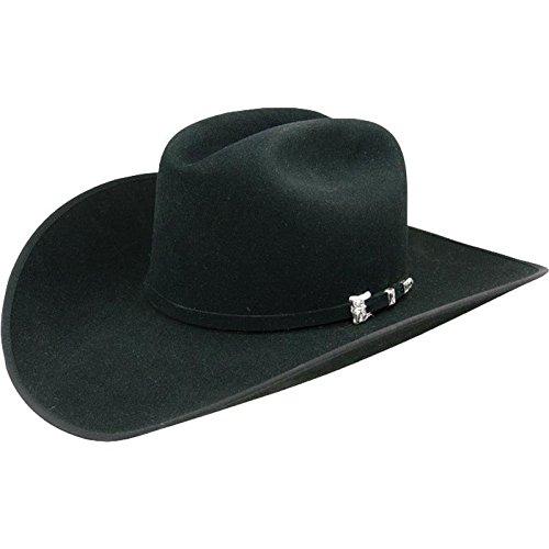 Resistol Mens Hats 20x Black Gold Bound Edge Felt Cowboy Hat
