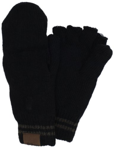Chaos Men's Stark Ragg Wool Flip Mitten (Heather Black, One Size)