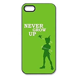 Customized iPhone Case Peter Pan Never Grow up Printed Durable Hard iPhone 5 5S Case Cover by ruishername