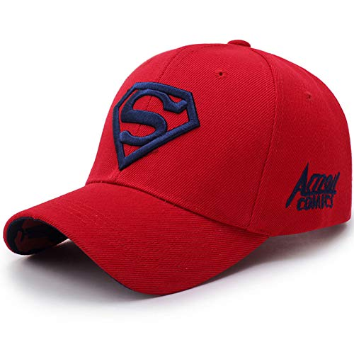 MEISUWANG Baseball Cap Mens Women's Summer Snapback Baseball Cap Superman Hero Embroidery Unisex Sun Hat Bone Garros Casquette Golf Dad Hats ()