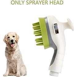 ALAMP Dog Shower Sprayer Bath Massager Handheld Bathing Scrubber Tool Grooming Kit Brush for Indoor and Outdoor Pet Washing (Shower Sprayer)