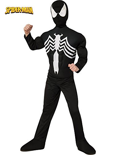 - 41BK 2BAgiWtL - Rubie's Marvel Ultimate Spider-Man/Venom Deluxe Muscle Chest Black Costume