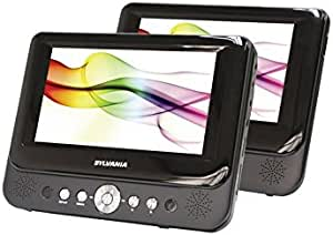 Sylvania SDVD8737 7in Dual Screen Portable DVD Player (Renewed)