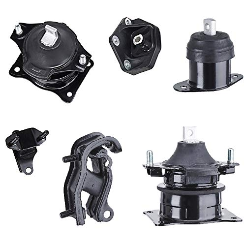 6pcs Engine Motor Mount Front, Rear, Right, Trans Transmission Upper, Front and Rear for 2003-2007 Honda Accord 3.0L, 2004-2006 Acura TL 3.2L, 2004-2008 Acura TL 3.5L