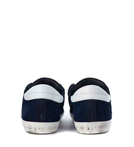 Philippe Model Heren Klassiek Blauw Doorboord Sneaker Blauw