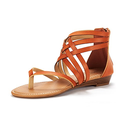 DREAM PAIRS Women's Juuly_02 Gladiator Ankle Strap Flat Sandals