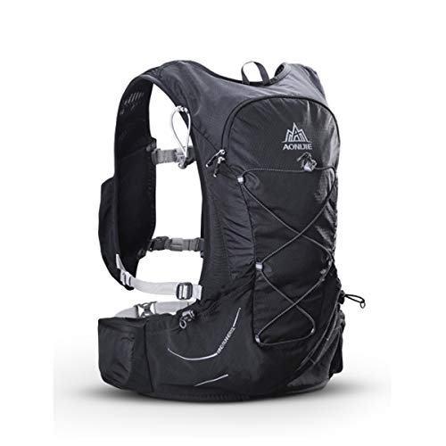15L Outdoor Hydration Pack Ultra Trail Lightweight Running Vest Marathon Backpack with 3L Water Bladder, First Aid Blanket, Whistle for Survival ()