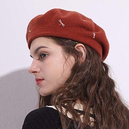 WUYIBA Berretto di Moda Autunno e Inverno Berretto Stile Britannico  Cappello Pittore di Vento Femminile Cappello cbb8a4e55b53