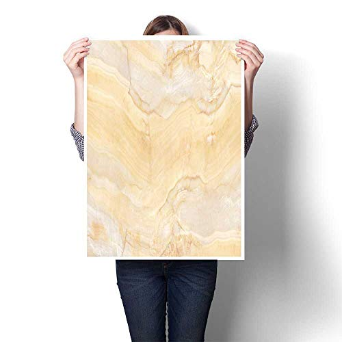 Art-Canvas Prints Yellow Cream Marble Canvas,20