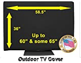 60' Outdoor TV Cover Black (Soft Non Scratch Interior fits 60'- some 65')