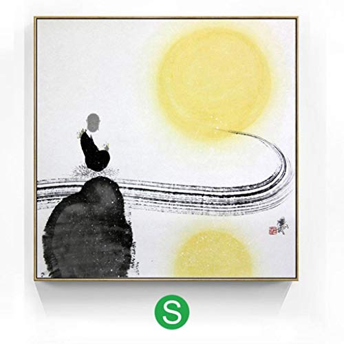 - Jjek K Photo Frame Wall Photo Wall Frame Collage Decoration 1 Piece, New Chinese Style Living Room Decoration Painting Ink Painting Painting Model Room Wall Painting Mural 15.7x15.7in