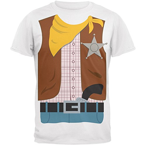 Halloween Cowboy Costume Youth T-Shirt - Youth Small (Mens Cowboy Costume Tshirt)