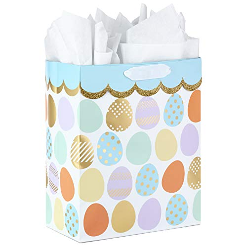 - Hallmark Large Easter Gift Bag with Tissue Paper (Multicolored, Easter Eggs)