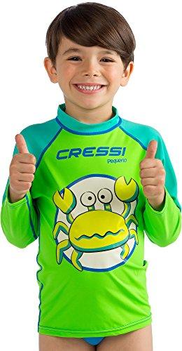 Cressi Pequeno Rash Guard Boy, Crab, XL (6T-7T)