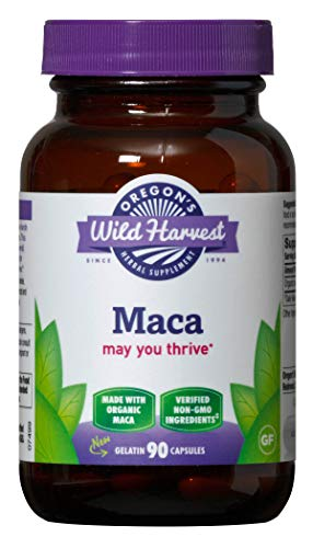 Oregon's Wild Harvest Maca Root Organic Herbal Supplement, 90 Count