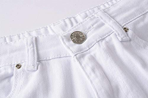 Da 88 Estilo Ginocchio Streetwear Skinny Nuovi Denim Pantaloni Chiusura Especial Al Bianca Bobo Uomo Club Super Jeans IPq4nydg