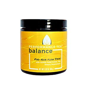 Performance Tea - Instant Powder Tea with Adaptogens - Super Functional Tea with No Sugar and All-Natural Ingredients that Taste Great for Convenient Sustained Energy (Balance, 80 Grams (1 Jar)) 80