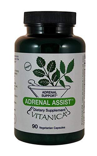Vitanica Adrenal Assist, Adrenal Support, Vegan, 90 Capsules