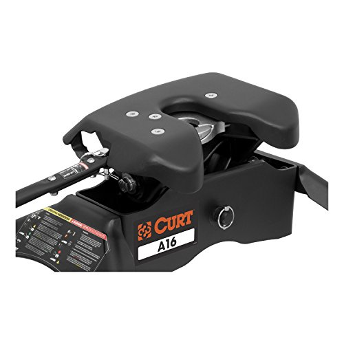 CURT 16043 Black Q25 5th Wheel Slider Hitch with Base Rails for Short Bed Trucks, 24,000 lbs.