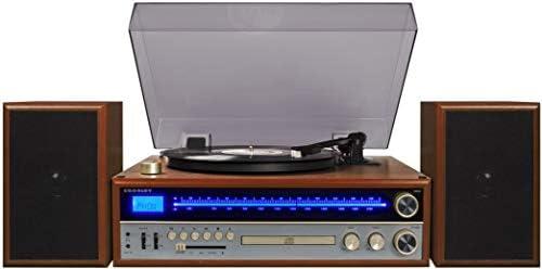 Crosley 1975T Sistema de Tocadiscos con Bluetooth, CD, Am/FM y ...