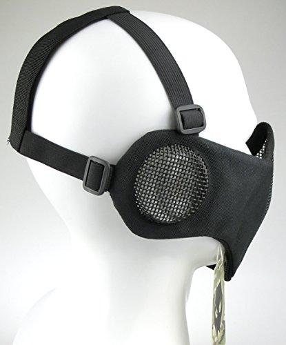 ATAIRSOFT Tactical Airsoft CS Demi-Masque de Protection en Nylon avec Masque Anti-Bruit 3