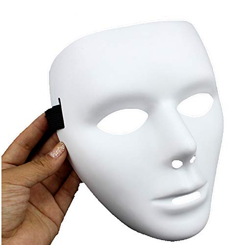 Jabbawockeez Hiphop Mask Halloween Cosplay Costume Party mask White (Male)]()