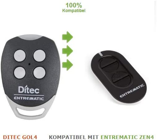 Mando a distancia DITEC GOL4 compatible con la frecuencia ZEN4 433Mhz 4 canales