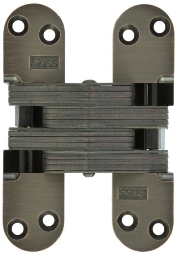 SOSS 220 Zinc Invisible Hinge with Holes for Wood or Metal Applications, Oil Rubbed Bronze Exterior Finish (220 Oil)