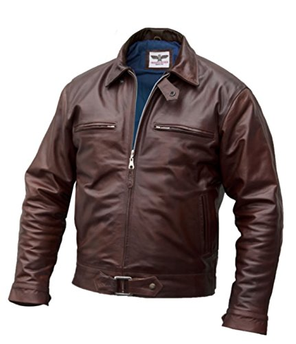 - BF-109 Men's Fighter Pilot Jacket, Argentine Horsehide (XL) Brown