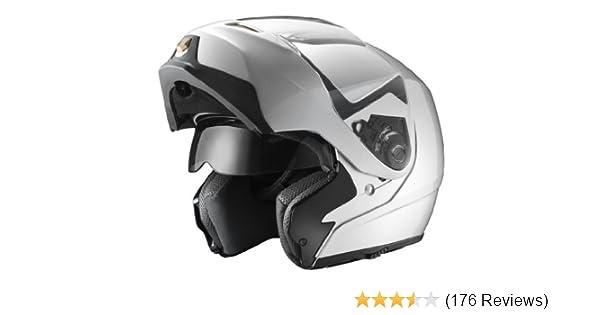 92a7b522f605c Amazon.com  GLX Modular Helmet with Sun Shield (Silver