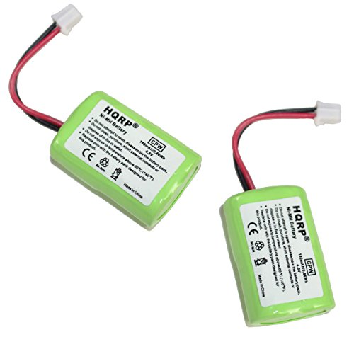 HQRP 2-Pack 180mAh Battery for SportDOG DC-17 400 & 800 Series Receiver SDT00-11907 Kinetic MH120AAAL4GC Replacement, RAYOVAC HHD10021 Plus Coaster
