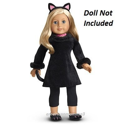 Tails Doll Halloween Costume (American Girl Black Cat Costume MyAG (DOLL IS NOT INCLUDED})