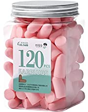 SOOJOO Soft Pink Foam Earplugs 60 Pairs with Reusable Silicone Earplug, 38 dB Ear Plugs for Sleeping, Snoring, Work, Travel, Shooting and All Loud Events