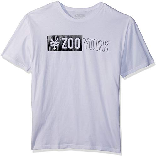 - Zoo York Men's Short Sleeve Logo Tee, White, Medium