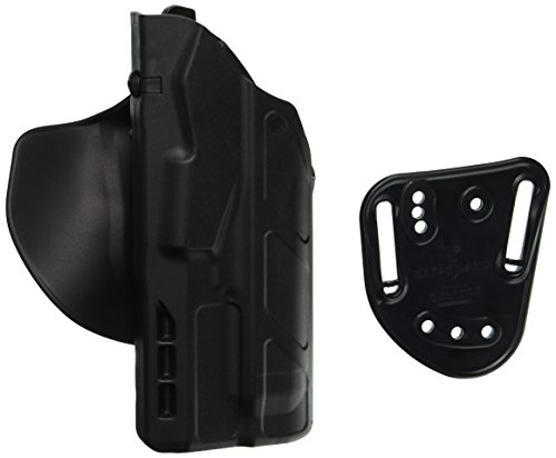 Als Holster (Safariland 7378 7TS ALS Concealment Holster, Flex-Paddle & Belt Loop Combo, Glock 17, 22, 31 w/ITI M3 Light, SafariSevenit Plain Black, Right Hand)