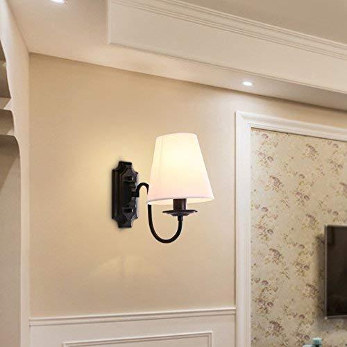 Modernes elegantes Zuhause Licht HOME Moderne minimalistische kreative Restaurant Stoff Wandleuchte einfache Dekoration Wohnzimmer Bar Schmiedeeisen Wandleuchte Persönlichkeit Schmiedeeisen Wandleucht