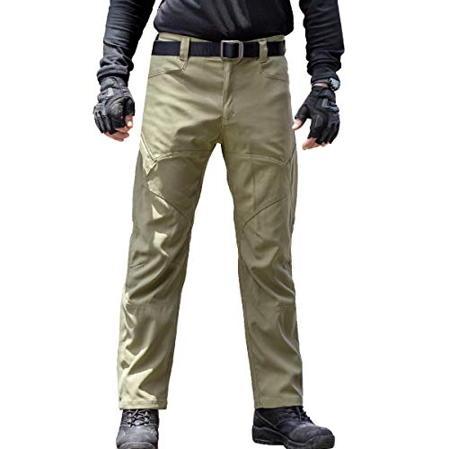 FREE SOLDIER Men's Tactical Pants Summer Breathable Lightweight Pants with Multiple Pockets Duty Work Pants 4 Colors