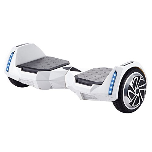 "Price comparison product image CXM2018 Self Balancing Hoverboard UL 2272 Certified 6.5"" Two Wheel Smart Electric Scooter with Bluetooth Speaker LED Wheels and LED Side Lights for Kids and Adults (white)"