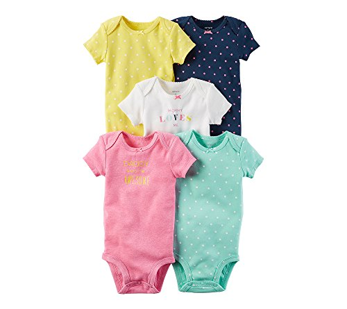 - Carter's Baby Girls' 5-Pack Multi Dot Bodysuits Newborn