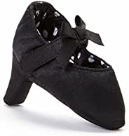 PeeWee Pumps Diva Black High Heel Infant Crib Shoes Baby Girls 0-6M