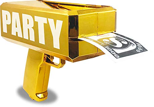 (Party With Pride Rainmaker Handheld Cash Gun / Fake Bill Dispenser / Money Shooter / Metallic Plated (Metallic)