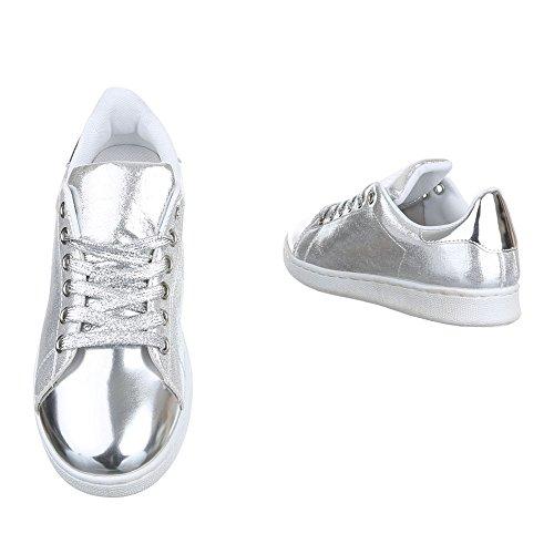 plata Mujer Zapatillas casa Design de Ital Pxvwpq64q