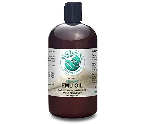 Cheap Emu Oil 16 oz 100% Pure Fully Refined Organic Undiluted – Bella Terra Oils
