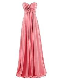 ThaliaDress Women's Empire Long Chiffon Bridesmaid Dress Prom Gown