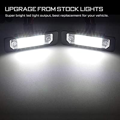 RUXIFEY LED License Plate Light Lamps Compatible with 2009 to 2020 Ford Flex, 2008 to 2011 Focus, 2006 to 2012 Fusion, 6000K White - Pack of 2: Automotive