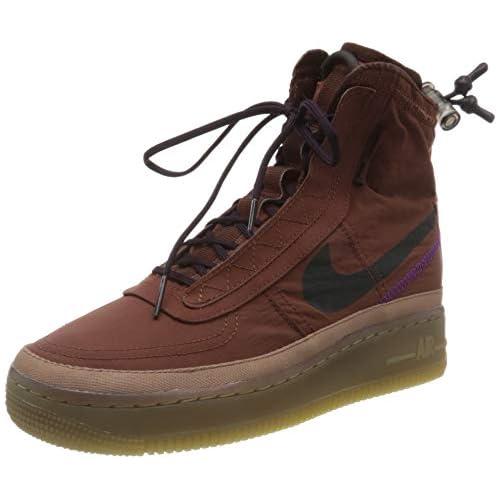 chollos oferta descuentos barato Nike W AF1 Shell Zapatillas de básquetbol para Mujer Dark Pony Burgundy Ash Desert Dust 35 5 EU