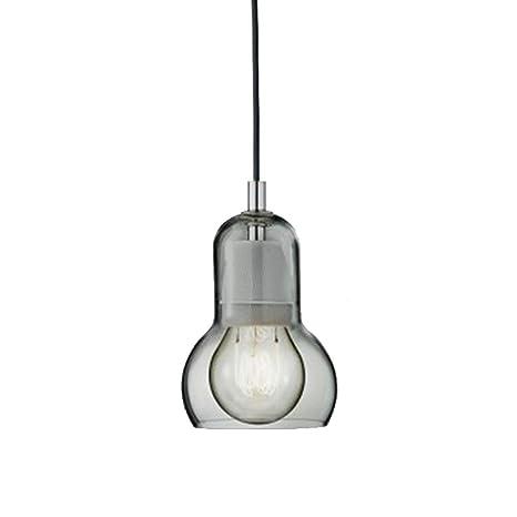 HoaLit Creativo Mini Vaso Lámpara Colgante, E27 Luz Colgante ...